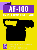 Panasonic AF-100 Pocket Guide Cover