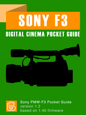 Sony PMW-F3 Pocket Guide Cover