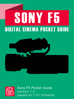 Sony F5 Pocket Guide Cover